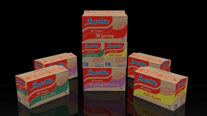 Indomie Noodle Box Package Collection 3D model