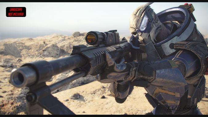 MASS EFFECT - Garrus Vakarian with Black Widow Rifle