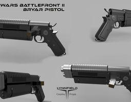 3D printable model Starwars Battlefront II - Bryar Pistol
