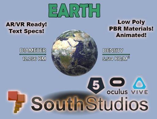 Animated Earth AR VR Unity 3dsmax