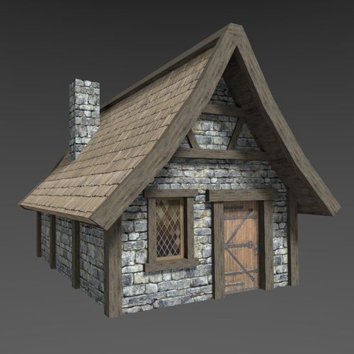 3d Model Low Poly Medieval House Village Cgtrader