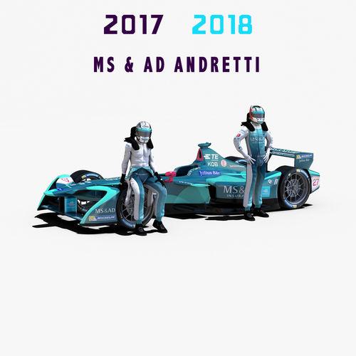msad andretti 2017 2018 3d model max obj 3ds fbx c4d ma mb 1