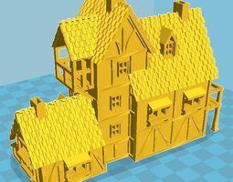 3D print model Medieval House 8