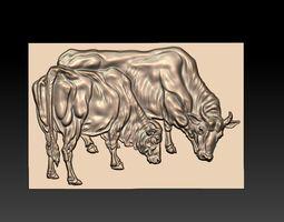 two bulls 3D