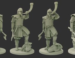 Warrior of the Vendel period 3D print model