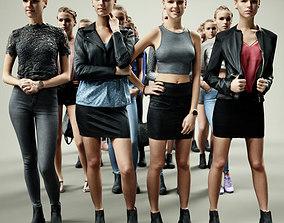 3D asset 16 Fashion Girls Scan Vol 2