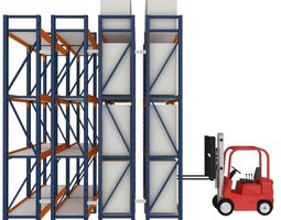 Forklift With Loads 3D