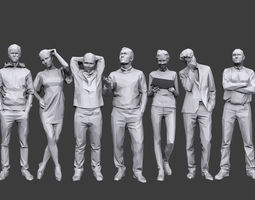 3D asset Lowpoly People Casual Pack Volume 18