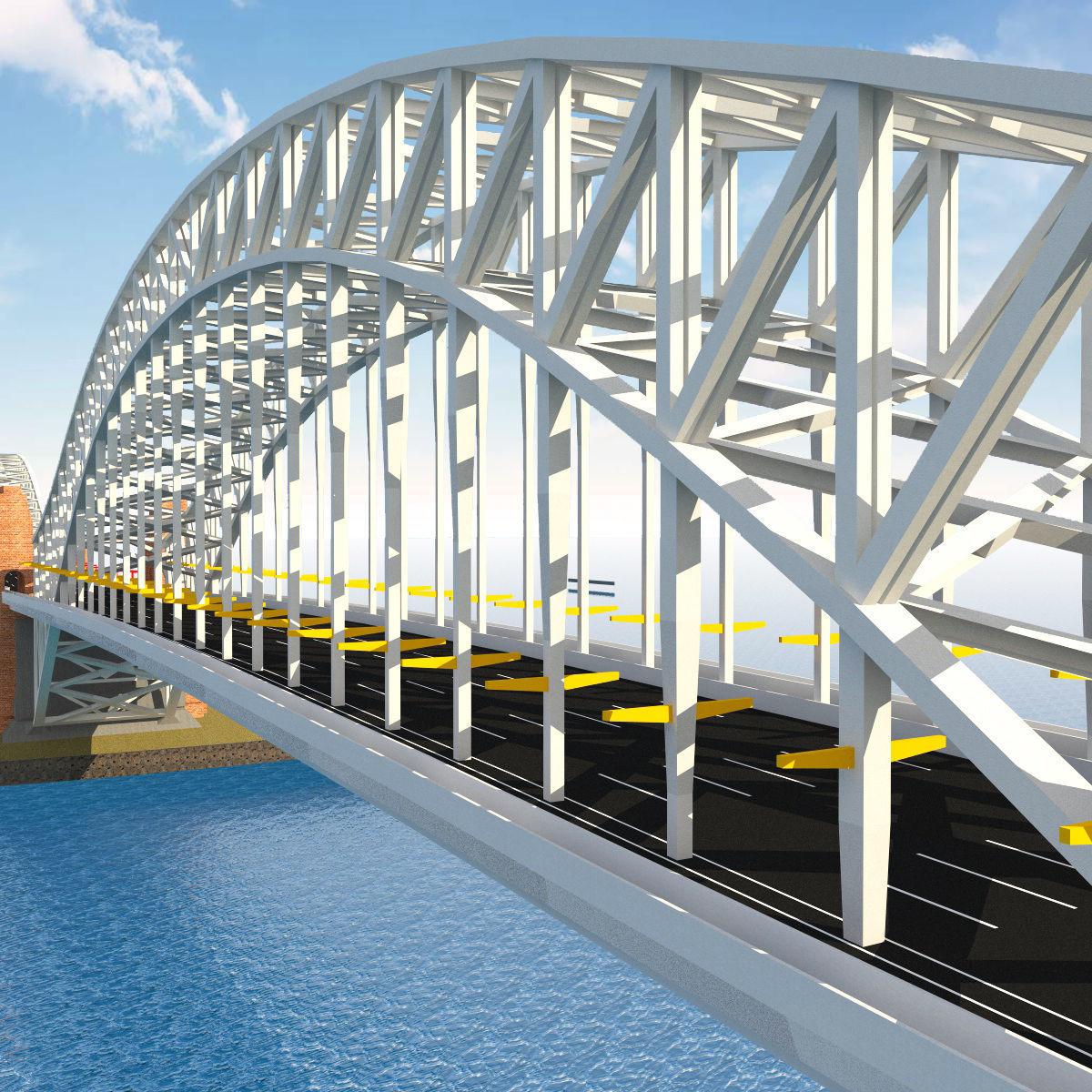 Metal Structured Bridge | 3D model