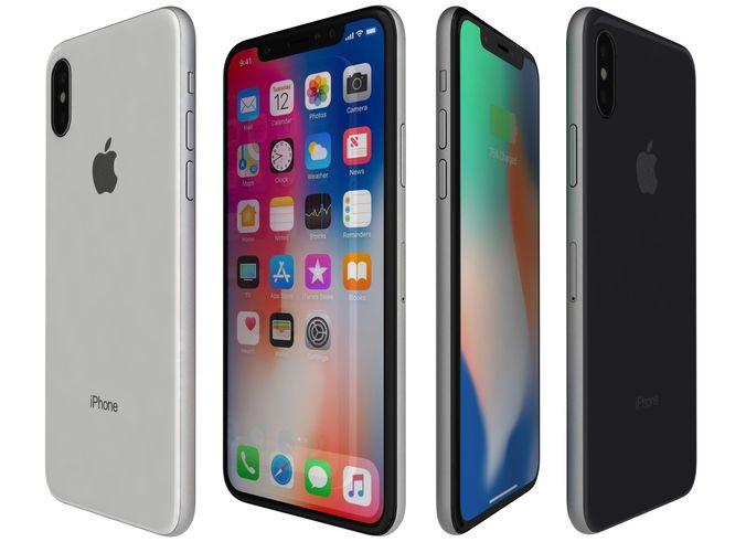 apple iphone x all colors 3d model max obj mtl 3ds fbx c4d lwo lw lws 1
