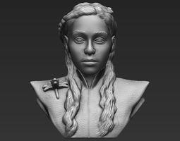 Daenerys Targaryen bust 3D printing ready stl obj