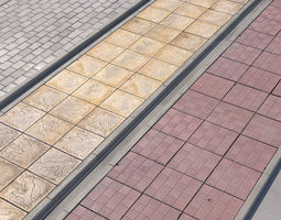 3D asset pavement