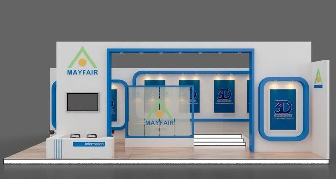Free D Exhibition Booth : D model exhibition stall design show cgtrader