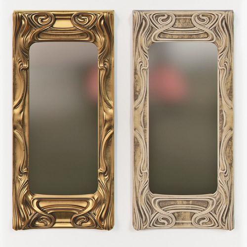 Art Nouveau Mirror 3D