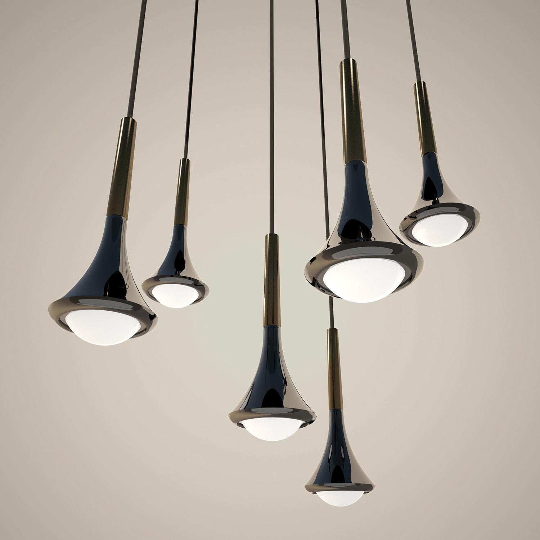 studio italia design lighting. Studio Italia Design Rain Lamp 3d Model Obj 3ds Fbx C4d Mtl 1 Lighting I
