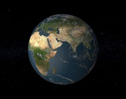 3D model animated High Realistic Earth 8K