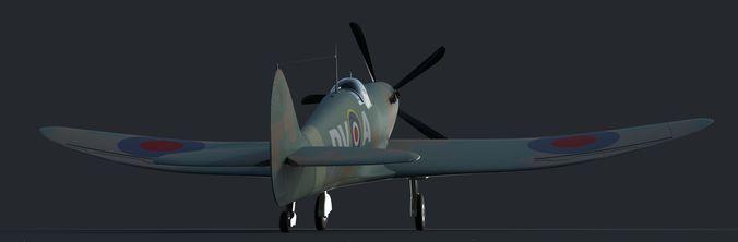 spitfire 3d model obj fbx ma mb mtl 1