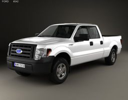 3D F-150 Super Crew Cab XL 2014