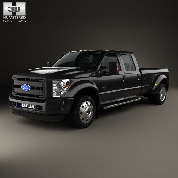 Ford F 450 Crew Cab Xl 2015 3d Model Max Obj 3ds Fbx C4d Lwo