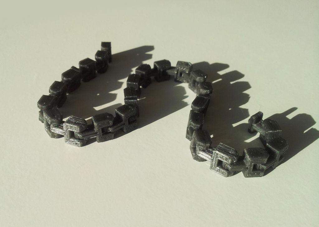 Bracelet Chain Free 3d Model 3d Printable Stl Cgtrader Com