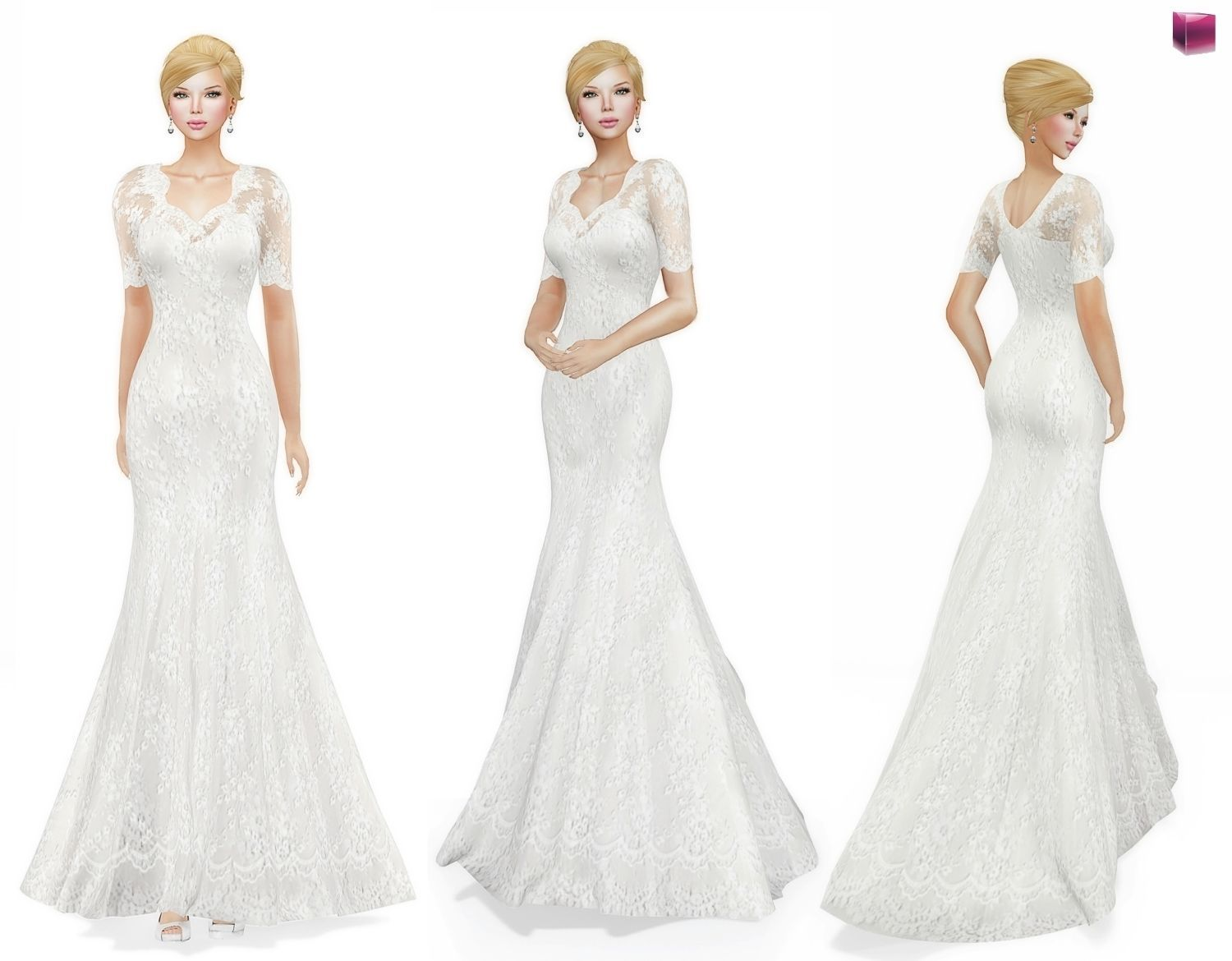 3D model Womens Celebrity Bridal Gown | CGTrader