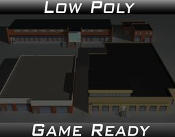 Factory Building Set 5 3D model
