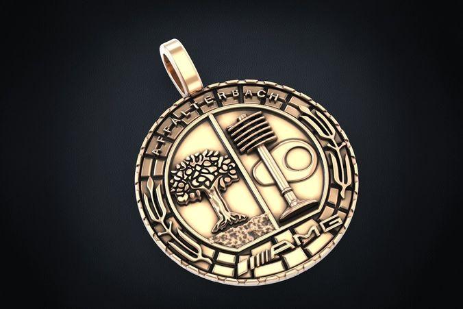 pendant symbol of mercedes amg 281 3d model stl 3dm 1