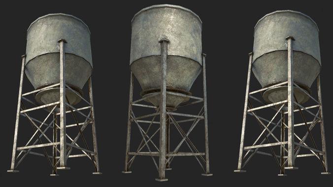 old silo 5 pbr 3d model low-poly max obj mtl 3ds fbx dae tga 1