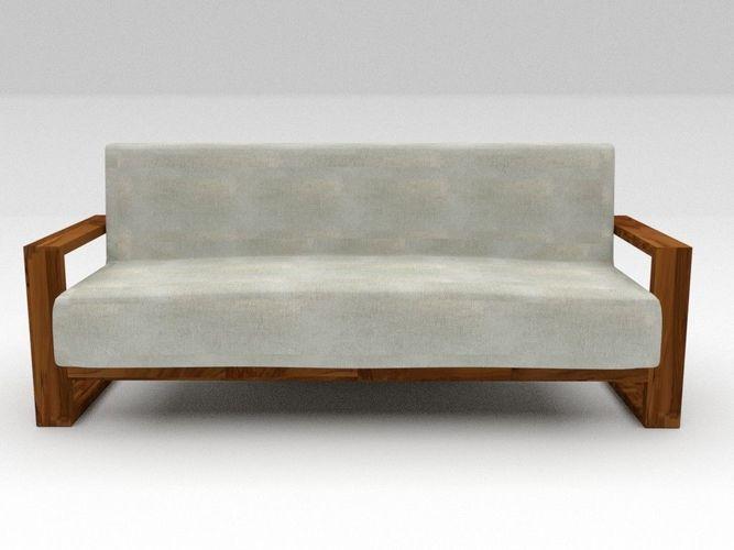 Marvelous Sofa Fabric 3D Model