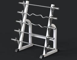 3D model rack Barbell Rack