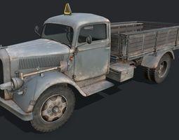 3D asset VR / AR ready Opel Blitz