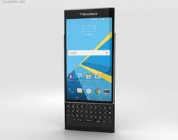 3D BlackBerry Priv Black