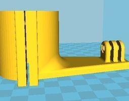 gopro mound for bike motorbike shock damper mount 3d printable model