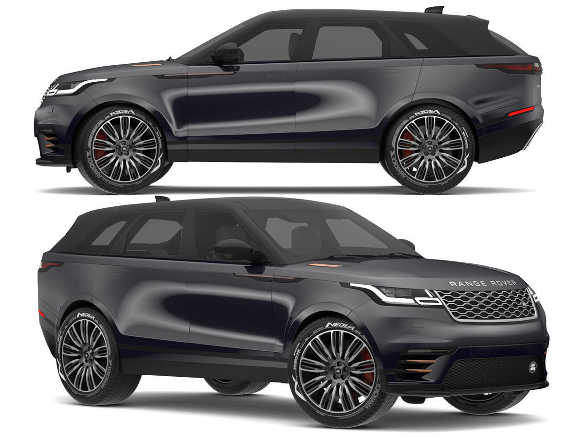 Land Rover Models >> 2018 Land Rover Range Rover Velar Narvik Black 3d Model