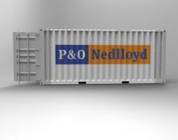 3d print model 20ft container