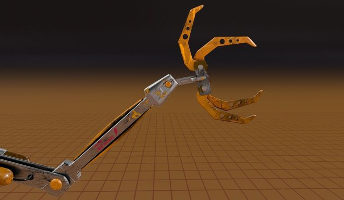 claw scifi robot 3d model obj mtl 3ds fbx c4d 1