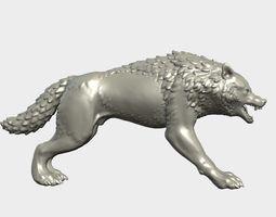 3D print model Fantasy Wolf