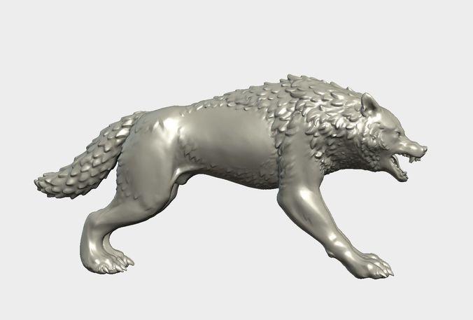 fantasy wolf 3d model obj mtl 3ds fbx stl blend 1