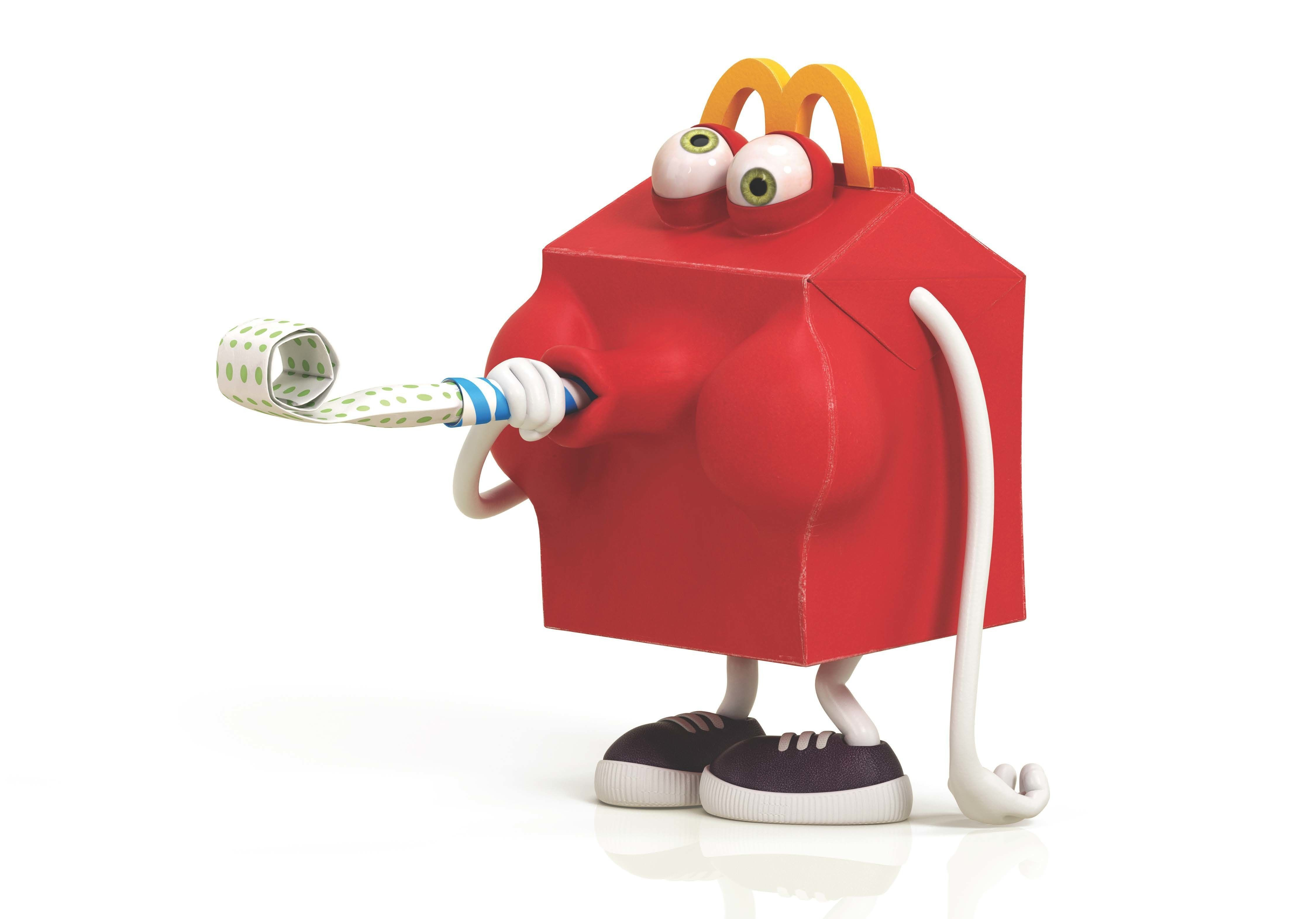 happy meal mcdonalds 3d asset cgtrader