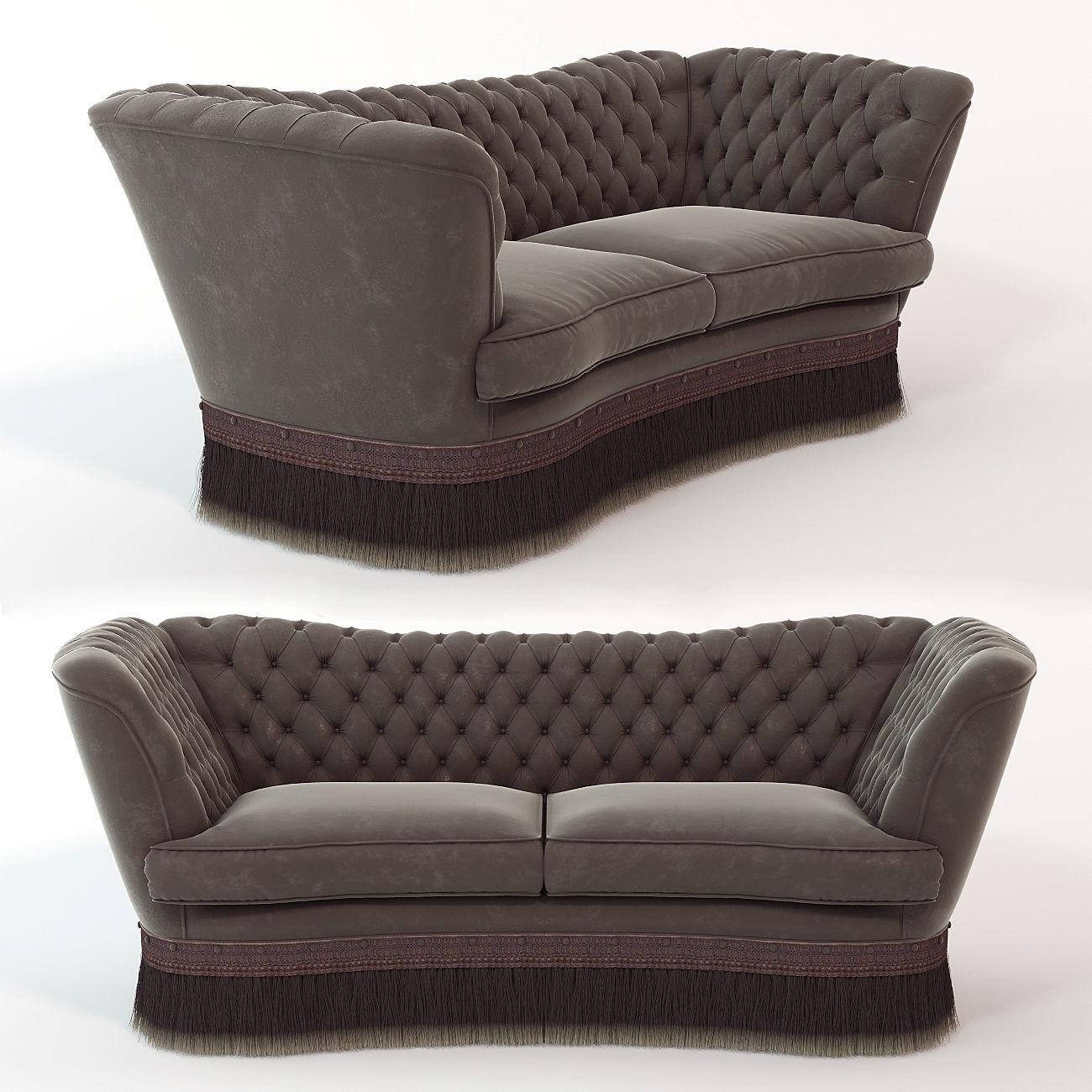Sofa Library Oak Model Max Obj Mtl Fbx Stl 1