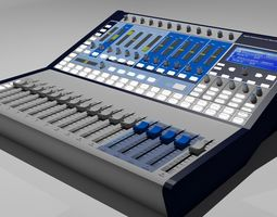 3D model Digital Studio Mixer