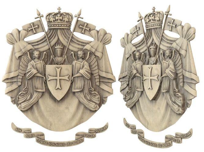 templar emblem 3d model max obj mtl fbx stl 1