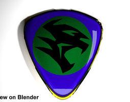3D model Crest Logo Proton Car new design