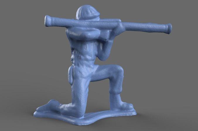 green army men bazooka model 3d model obj mtl 1