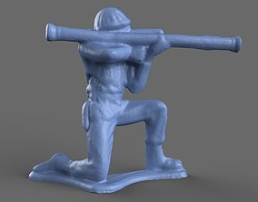 Green Army Men Bazooka model 3D