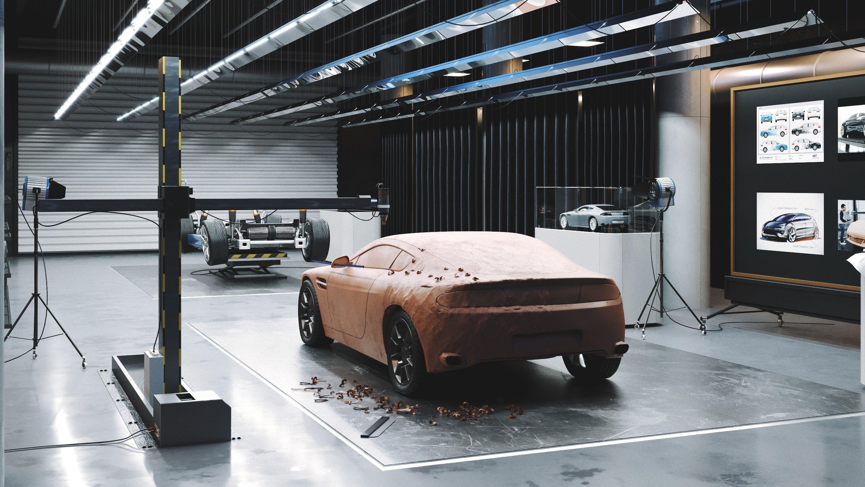 Car design scene