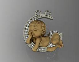 baby pendant zbrush 3D print model