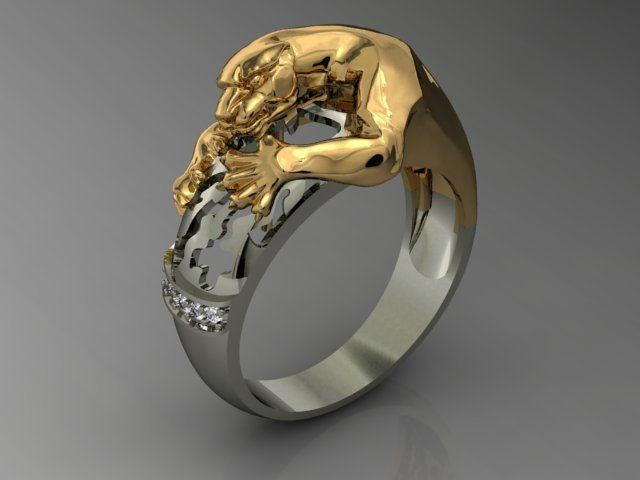 panthera ring 3d model stl 3dm 1