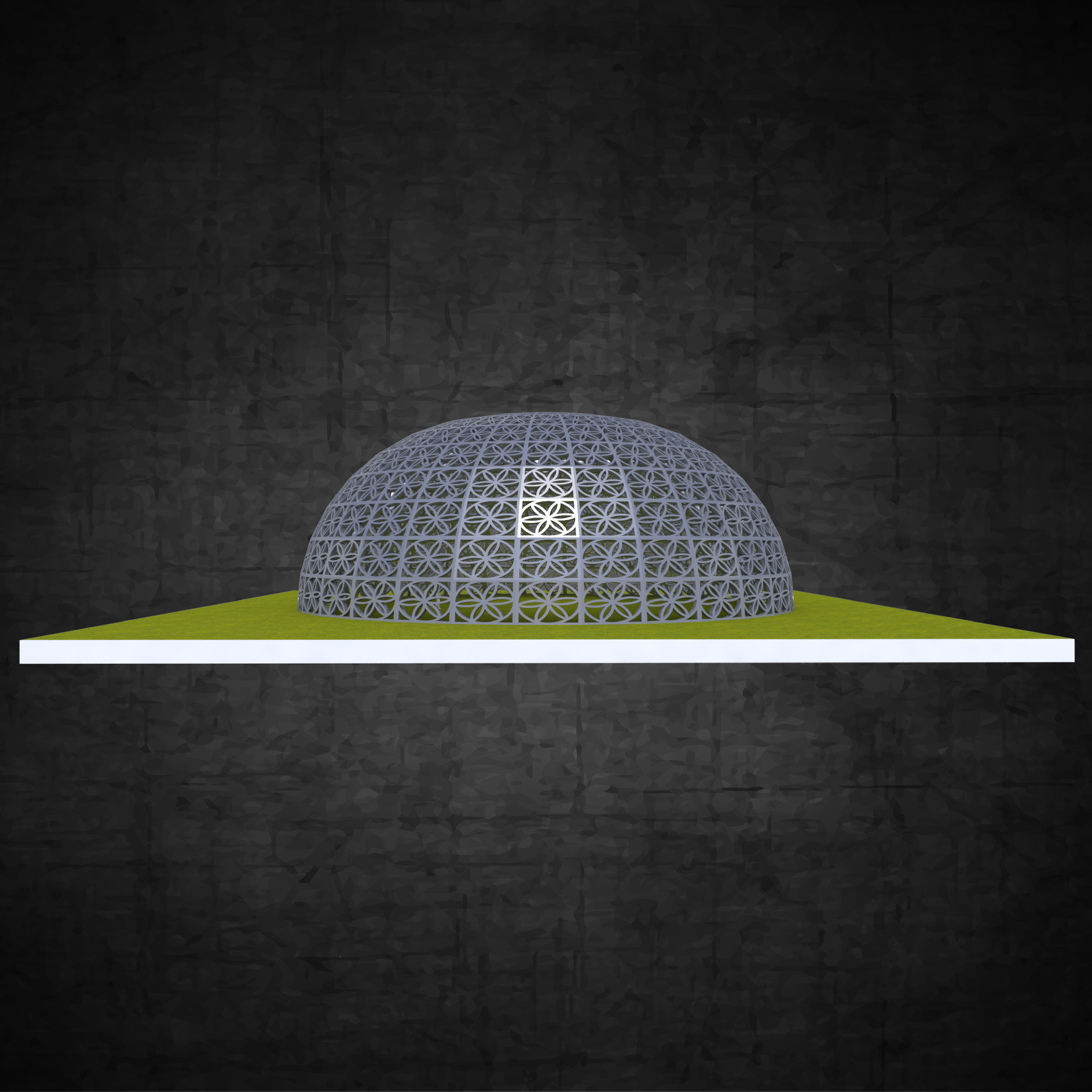 Dome structure flower of life panels