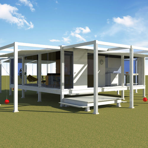 Modern minimal house rudolph guest house 3d cgtrader for Guest house models